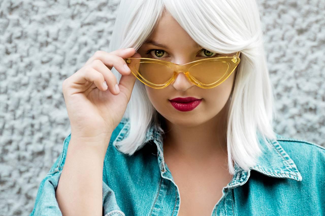 platinum blonde photo for brown eyes