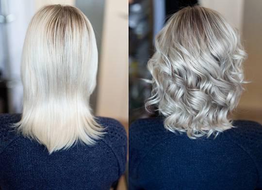 platinum blonde at home