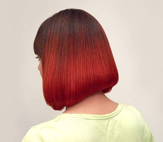 Hair coloring on the square Red shades
