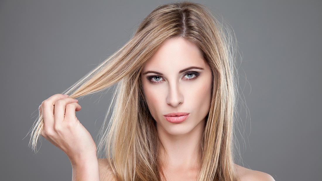 Hair balm with keratin