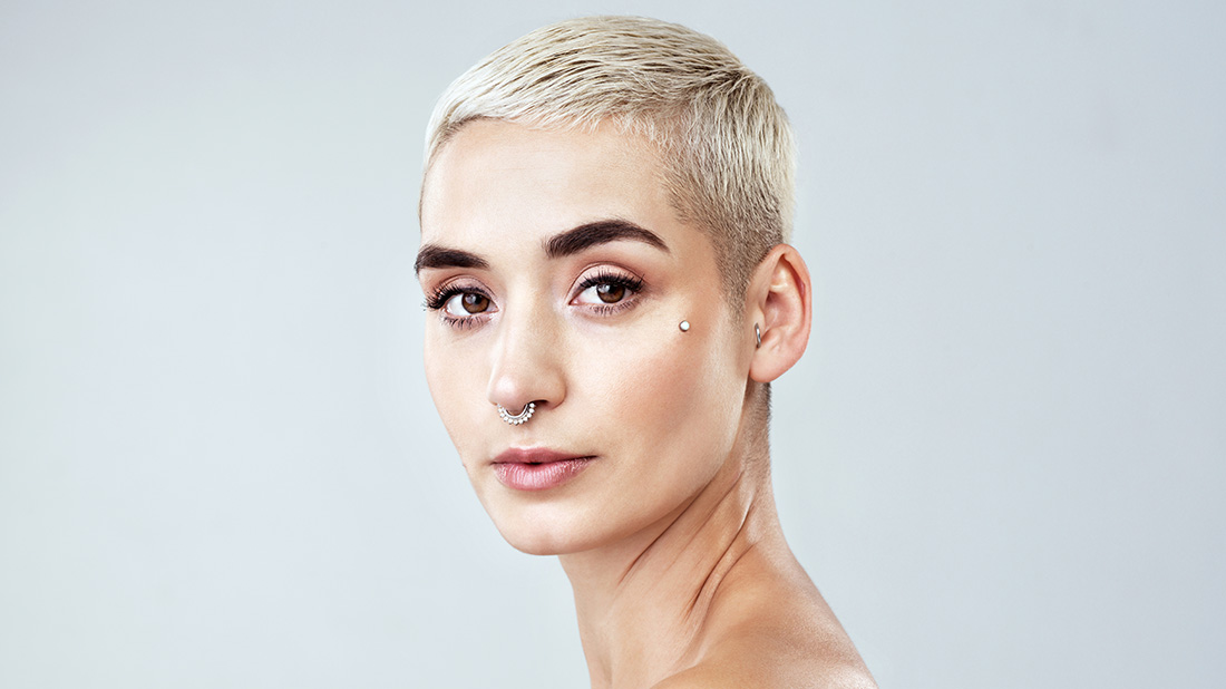 Women's half-box haircut
